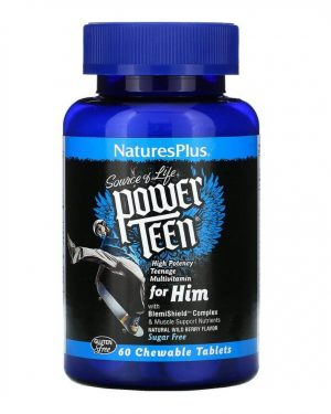 NaturesPlus Power Teen for Him 60 Chewable Tablets