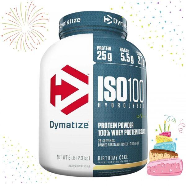 Dymatize Iso 100 Hydrolyzed Birthday Cake 2,3 kg