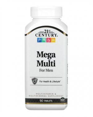 21 Century Mega Multi For Men 90 Tablets