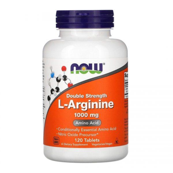 Now L- Arginine 1000 mg 120 Tablets